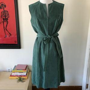 Fiandaca Vintage Suede Dress Sea Foam Green Size 4
